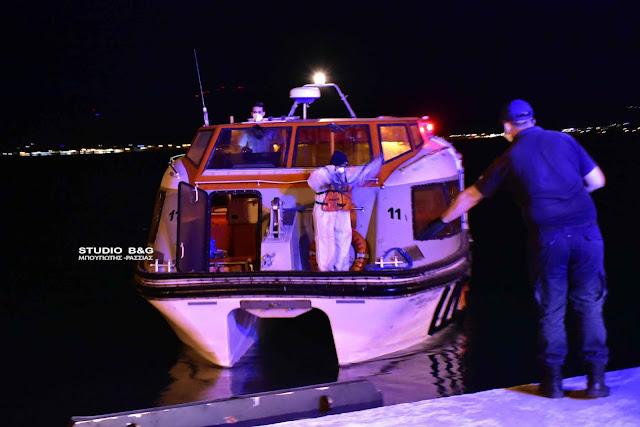 Επιχείρηση στο Ναύπλιο για μεταφοράς ασθενούς από κρουαζιερόπλοιο (βίντεο)