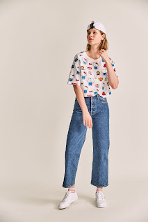 Levi's, Hello Kitty, jeans, Denim, Levi's x Hello Kitty, Sanrio, cute, vaqueros de moda, vaqueros denim, hello kitty levis, hello kitty camiseta, hello kitty comprar,