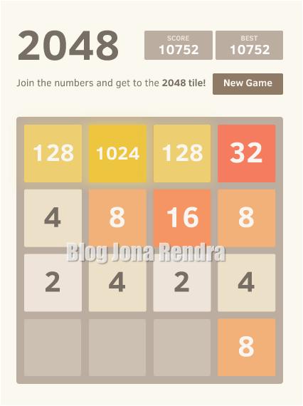 2048 game jonarendra
