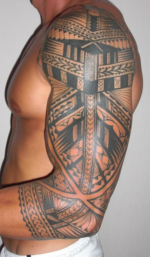 Tattoos For Men On Chest To Shoulder
