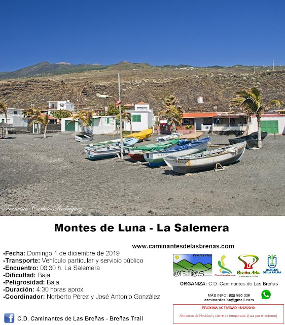 Caminantes de Las Breñas, Domingo 1 de Diciembre: Montes de Luna - La Salemera