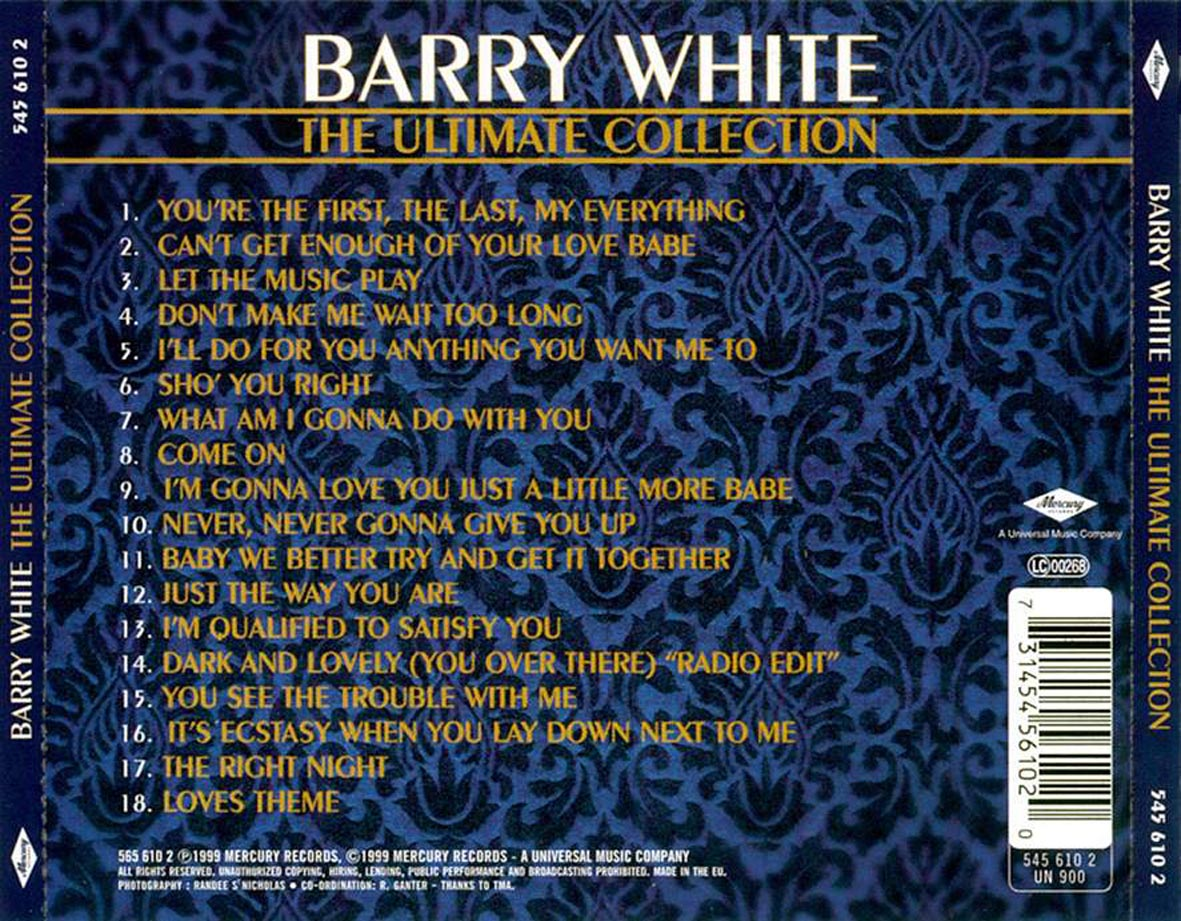 Barry White Ultimate Collection: Musica Es El Arte De Combinar El Sonido Y El Ritmo: Barry