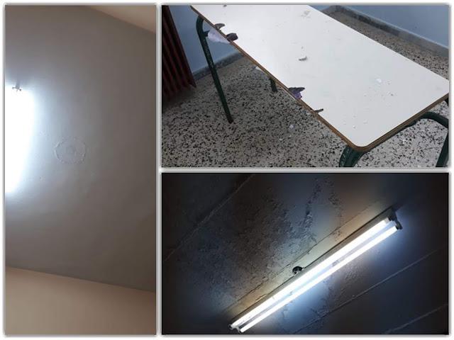 Γιάννενα: Σημαντικά προβλήματα στην στέγη του 1ου Λυκείου Ιωαννίνων