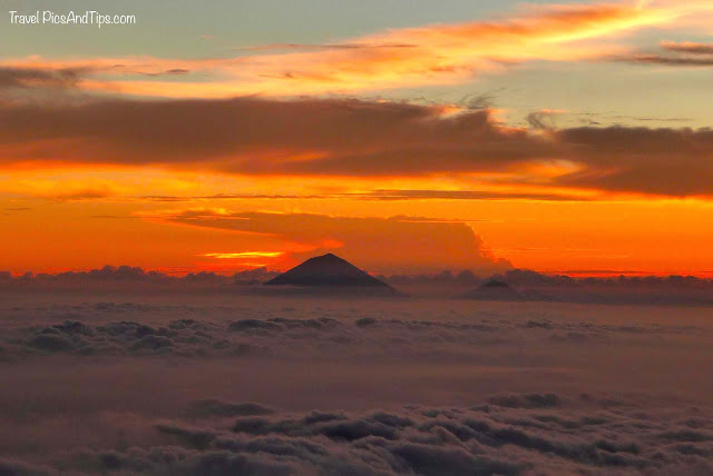 Beautiful sunset, Trekking mount Rinjani Indonesia