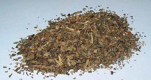 Dried basil leaves