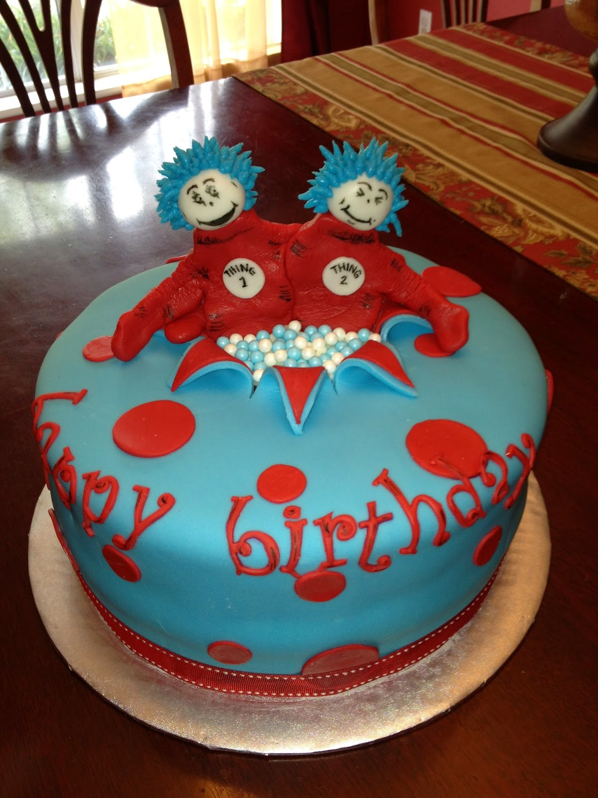 A Blissful Bash Dr Seuss Twin Birthday Cakes