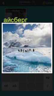 в океане айсберг на котором находятся пингвины 19 уровень 667 слов