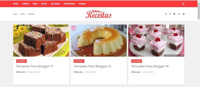 Delicias Receitas Blogger Template