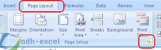 Page Layout untuk membuat halaman dalam excel