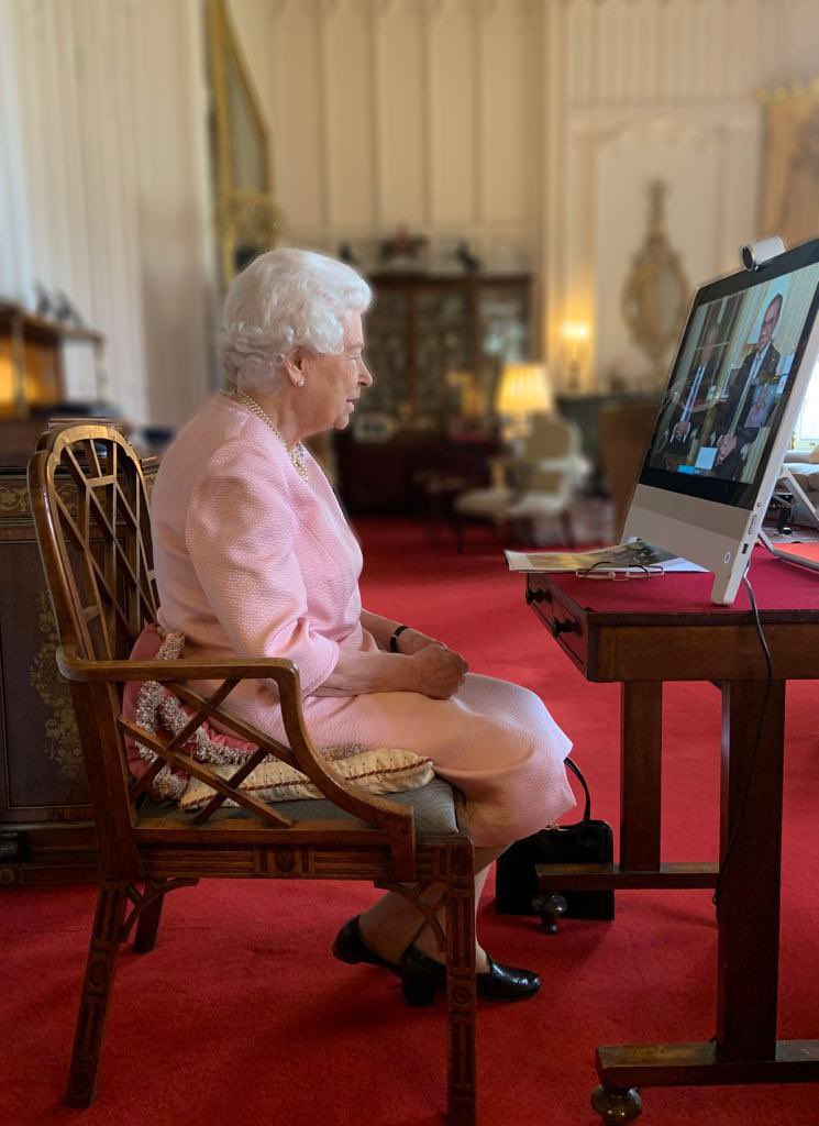 During the video call, Queen learned about the vaccine roll-out to key workers, the response to Covid-19