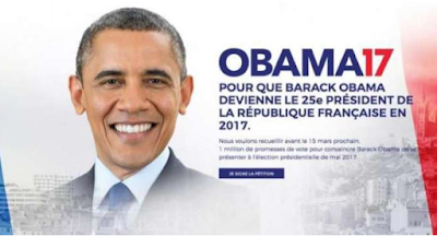 petisi meminta Obama jadi calon presiden ke-25 Perancis