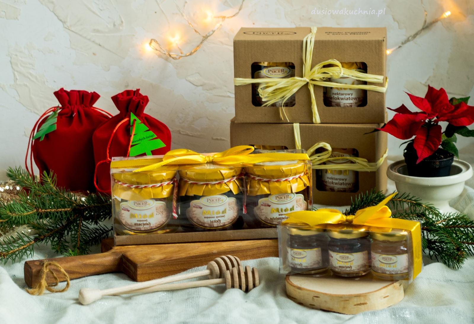 Pomysł na prezent - zestaw miodów (Pucer) + niespodzianka PREZENT dla Was