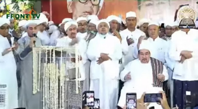 Habib Rizieq Didoakan Jadi Pemimpin di Indonesia saat Maulid Nabi di Markas FPI
