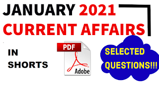 January 2021 current affairs in short