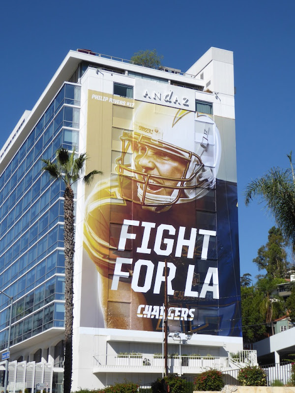 Giant Fight for LA Chargers billboard
