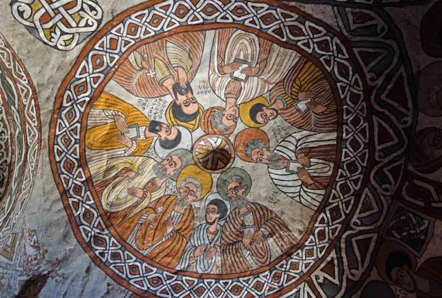 Pinturas del techo - Iglesia Abuna Yemata Guh en Etiopía