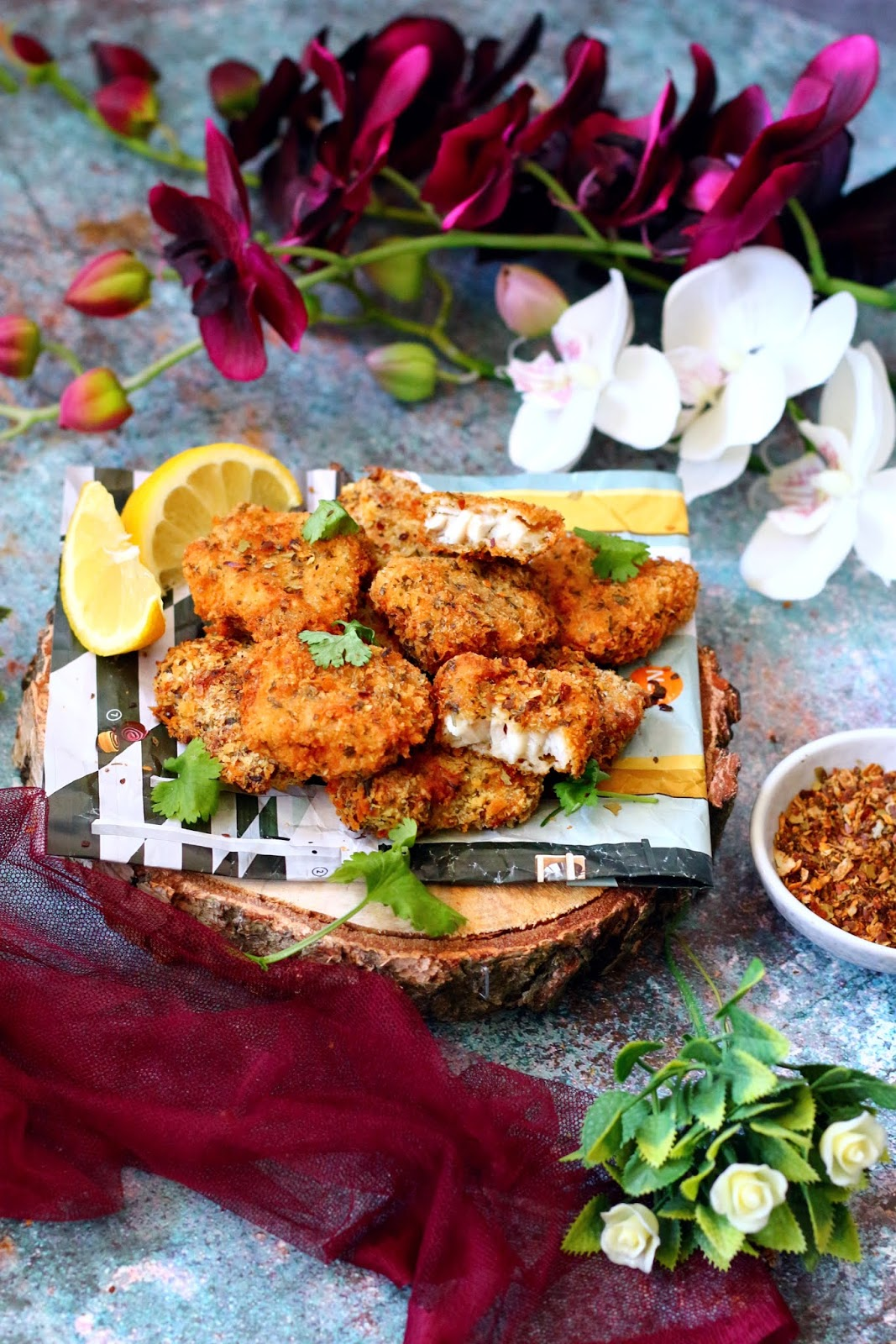 Spicy Fish Nuggets Photography