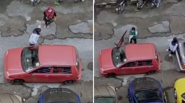 (Video) 'No phone tak tinggal, handbrake tak turun' - Akibat double park, cermin kereta Kancil dipecahkan