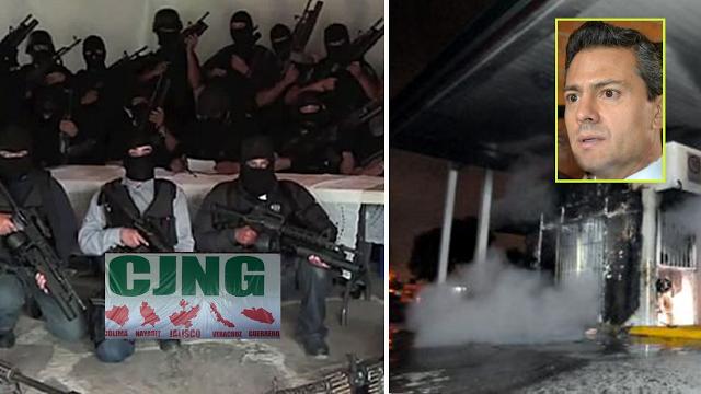 """El """"CARTEL DE JALISCO NUEVA GENERACIÓN """" amenaza con incendiar gasolineras ante GASOLINAZO en apoyo a la clase trabajadora"""