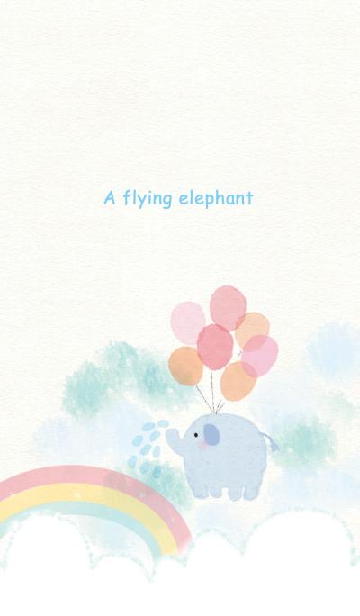 A flying elephant