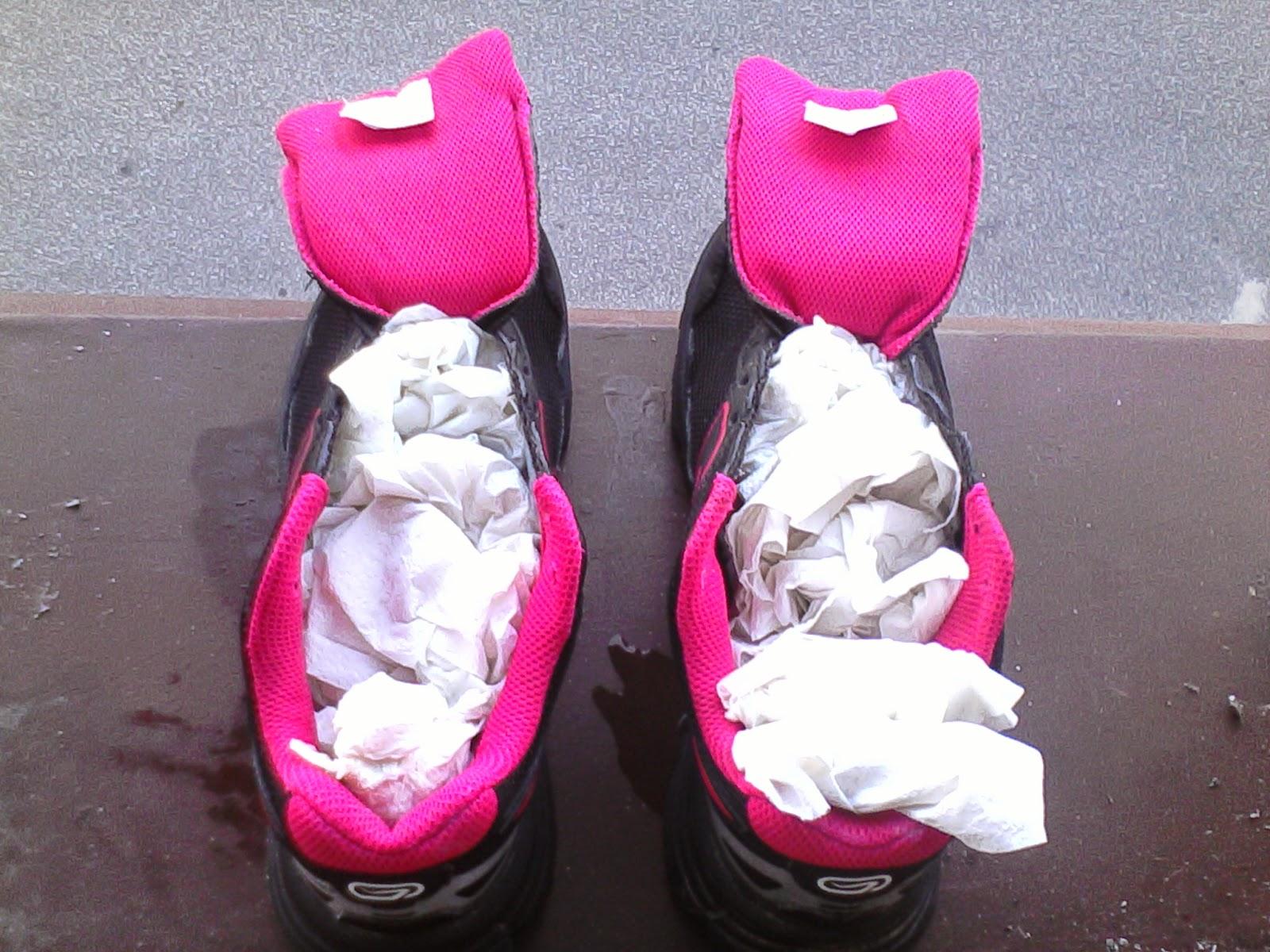 Suszenie butów do biegania