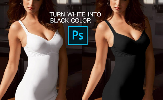 Turn White into Black Color in Photoshop