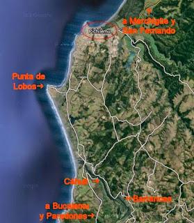 Mapa Pichilemu Cáhuil