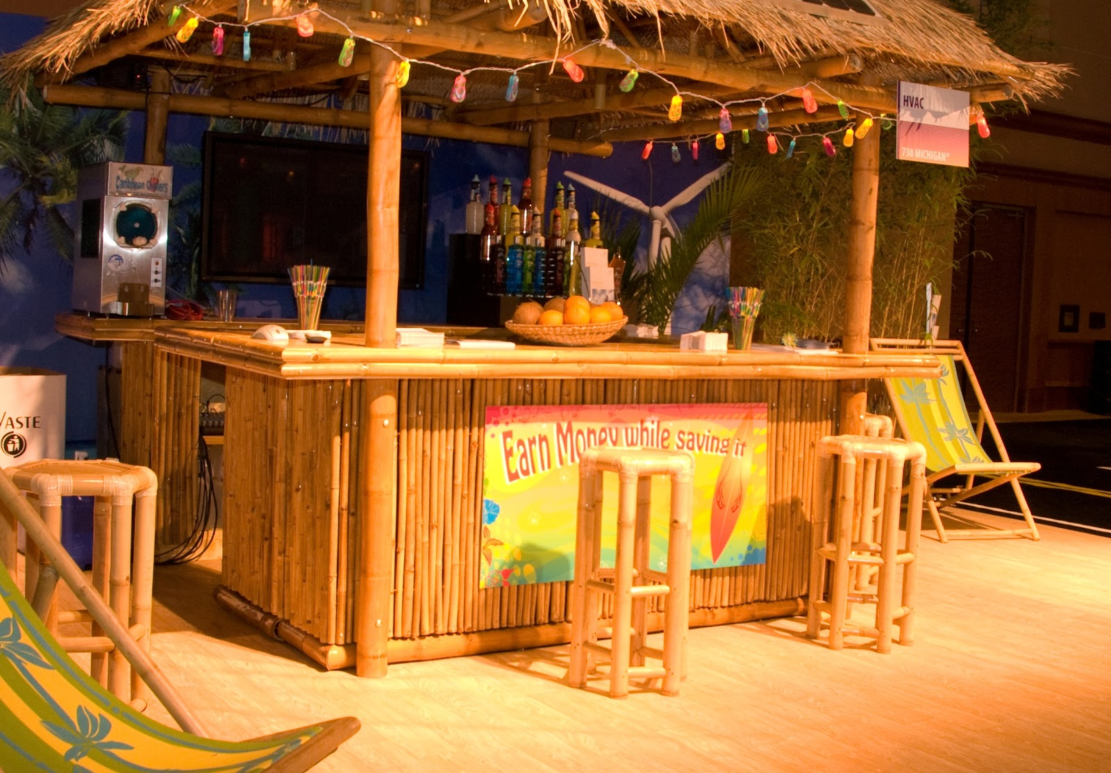 Bamboo Tiki Hut Bar Bamboo Valance Photo