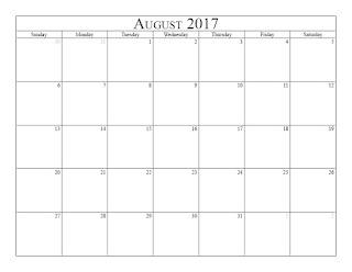 Free Printable Calendar August