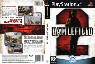 Jogo Battlefield 2 PS2 DVD Capa