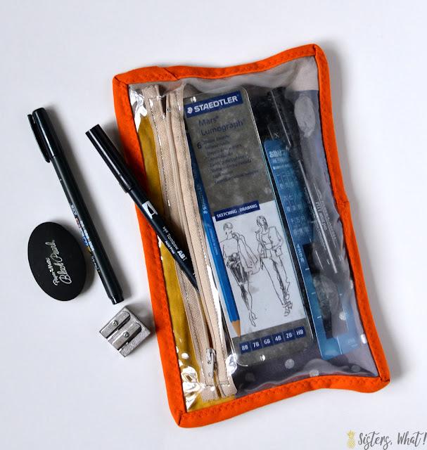 see through zipper pouch