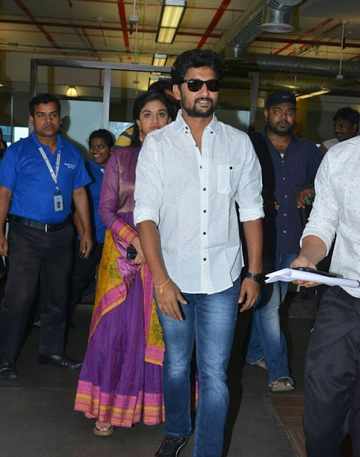 Nani, Keerthy Suresh at Facebook office for nenulocal promotions