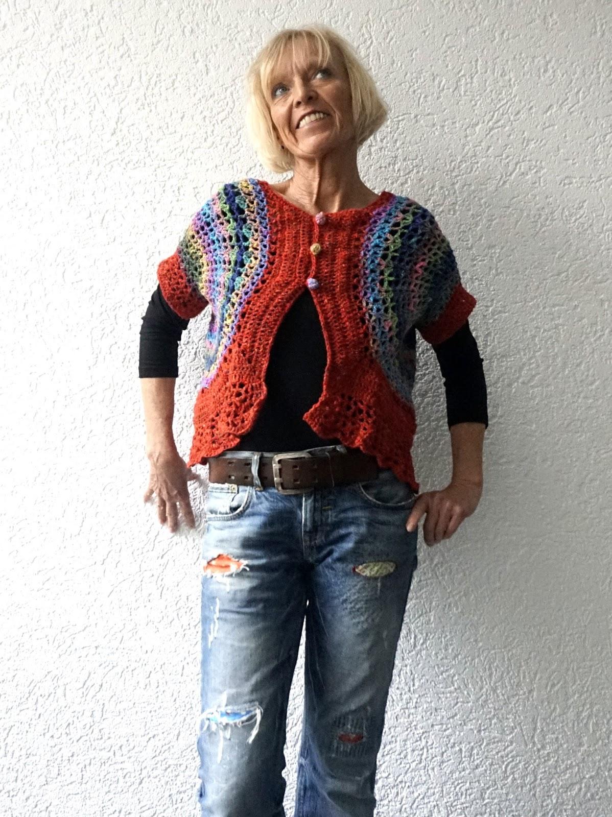 Kreativ mit täschwerk : Bolero, Weste häkeln