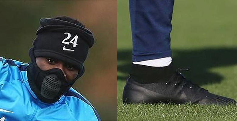 3e7899fef Serge Aurier Shows Off Next-Gen Nike Mercurial Superfly VI Boots   All-New  Nike Snood