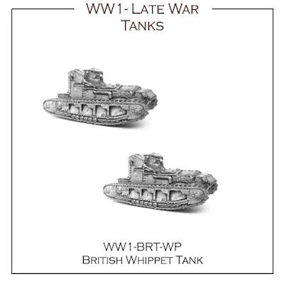 WW1-BR-WP British Late War Tank - Whippet