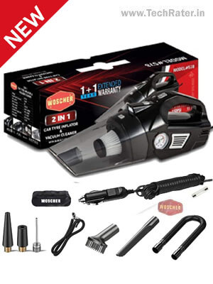 2 in1 Car Vacuum Cleaner & Tyre Inflator with