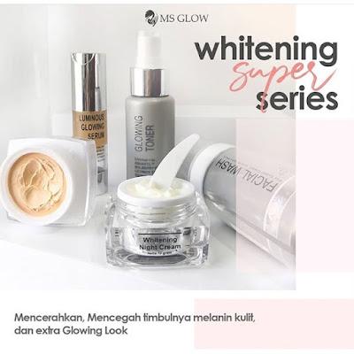 MS GLOW Whitening Series Pemutih Wajah Super