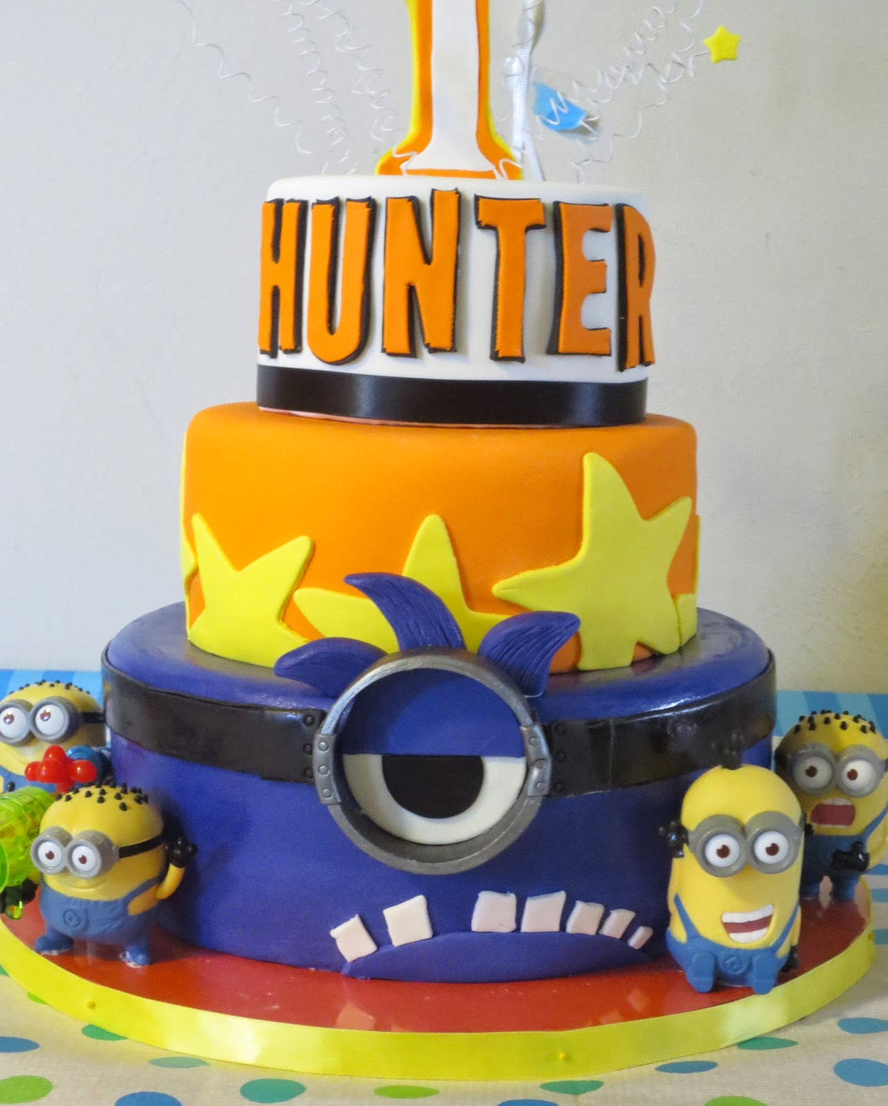 J S Cakes Minion 1st Birthday Cake