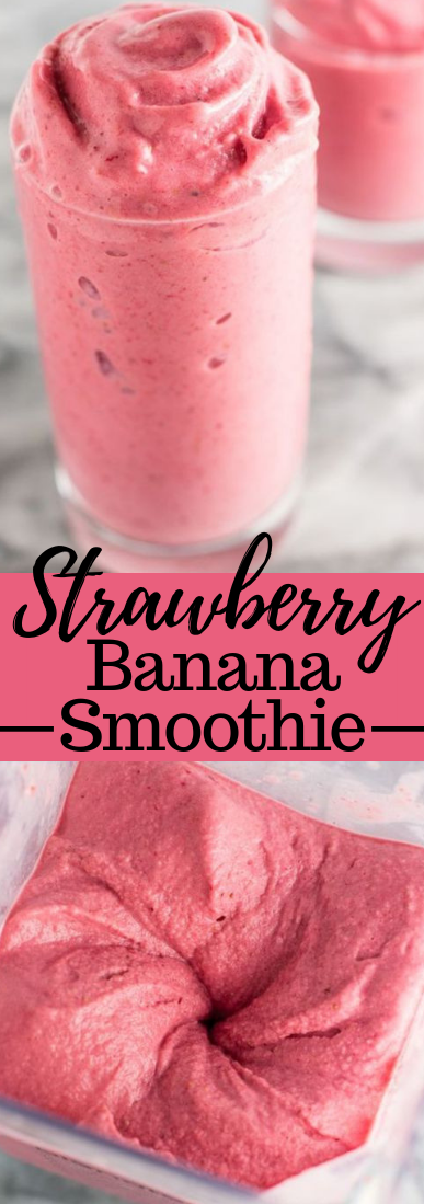 Strawberry Banana Smoothie #fruitdrink #healthy
