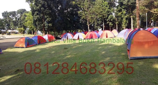 Wisata Camp Keluarga di Wana Wisata Villa Bukit Hambalang Adventure