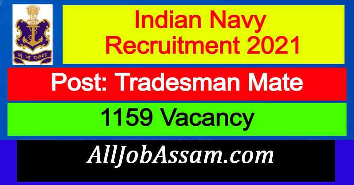 Indian Navy Tradesman Mate Recruitment 2021