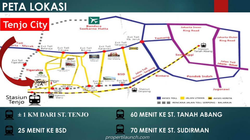 Peta Lokasi Tenjo City