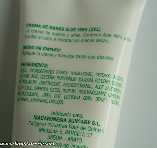 ingredientes crema de manos