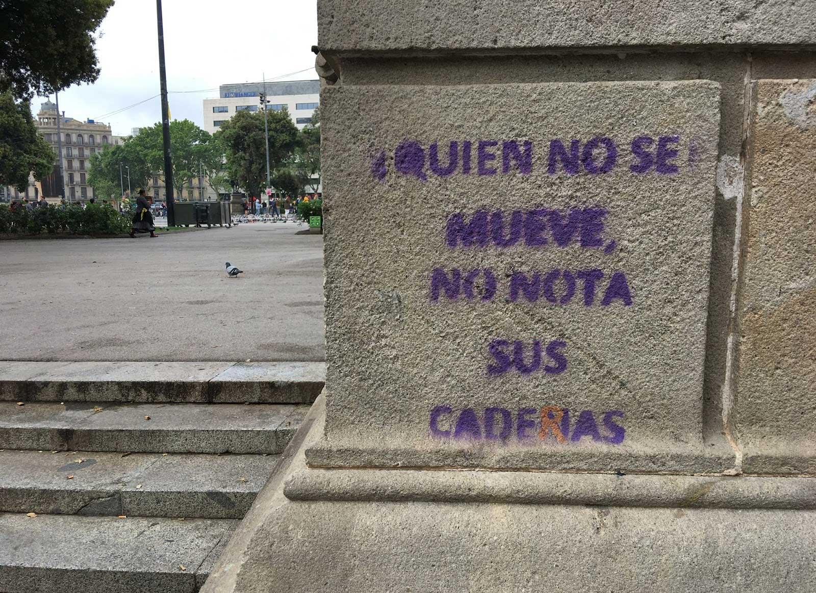 Plaza Cataluña, Barcelona, mayo 2019