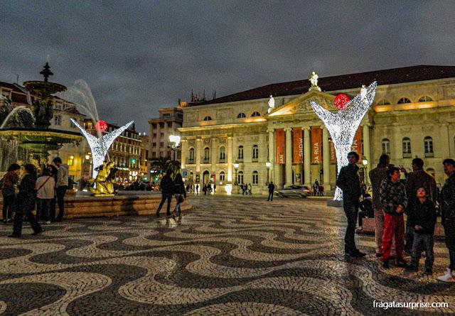 Decoração de Natal na Praça do Rossio, Lisboa