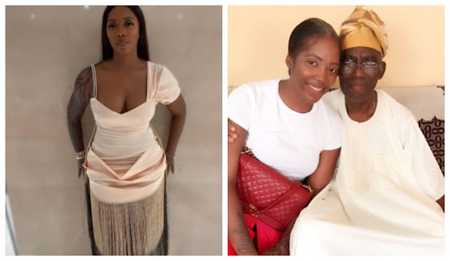 I am so numb and weak- Tiwa Savage Mourns as she loses her dad