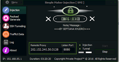 Injek SMI (Simple Maker Injection) 2017 PC + Config XL Unli Unlock SSH