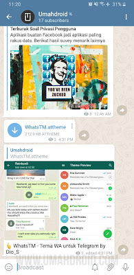 Channel Telegram Teknologi Umahdroid