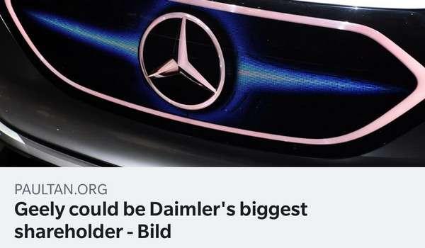 Geely bakal menjadi pemegang saham terbesar Daimler - Bild