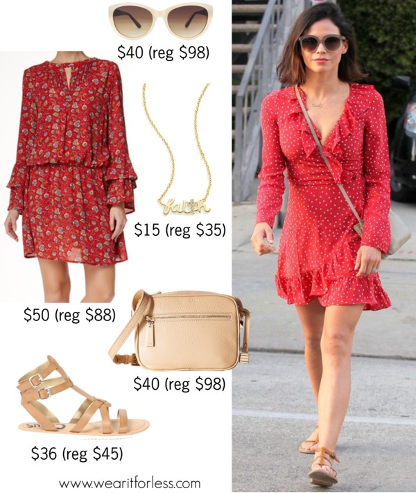 #JennaDewanTatum in Hollywood, Los Angeles, celebrity street style, spring outfit idea, celebrity wearing a red dress